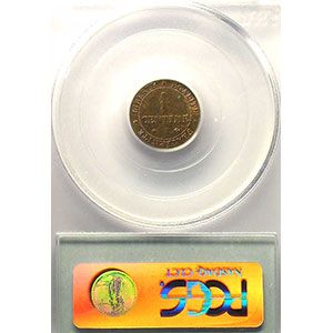 1872 A  (Paris)    PCGS-MS63RB    SUP/FDC