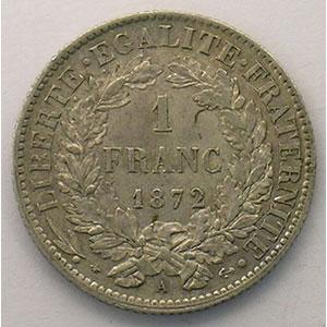 1872 petit A  (Paris)    TTB+/SUP