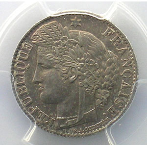 1873 A  (Paris)    PCGS-MS63    SUP/FDC