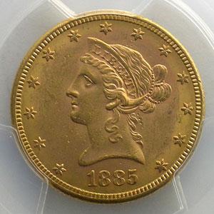1885 S   (San Francisco)    PCGS-MS61    SUP/FDC