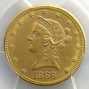 1886 S   (San Francisco)    PCGS-MS61    SUP/FDC