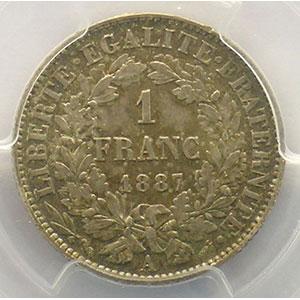 1887 A  (Paris)    PCGS-MS63    SUP/FDC
