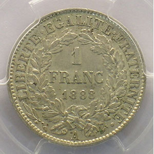 1888 A  (Paris)    PCGS-AU58    SUP