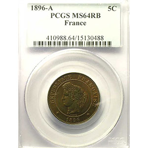 1896 A (Paris) torche    PCGS-MS64RB    pr.FDC