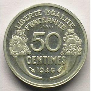 1946   Piéfort Essai en aluminium    FDC