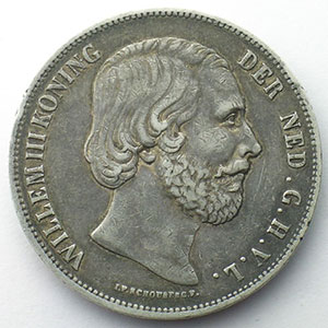 2 1/2 Gulden   1857    TB+/TTB