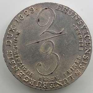 2/3 Thaler   1829 C    SUP
