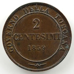2 Centesimi   1859 Birmingham    TTB+/SUP