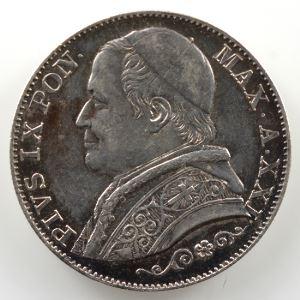 2 Lire   1866 R  (Rome)  Année XXI    TTB+