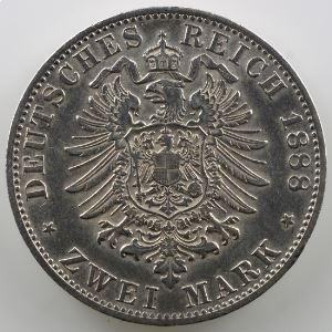 2 Mark   1888 D (Münich)    TTB+