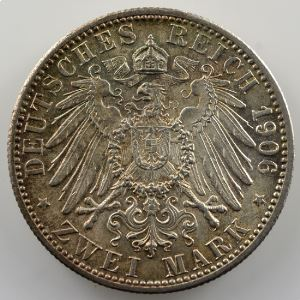 2 Mark   1906   Noces d'or/Zur goldenen Hochzeit    SUP