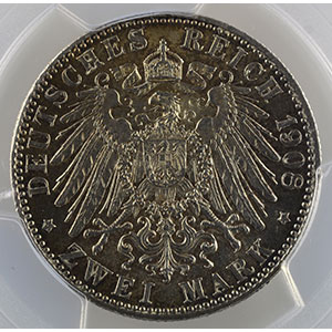 2 Mark   1908 D  (Münich)    PCGS-MS64    pr.FDC