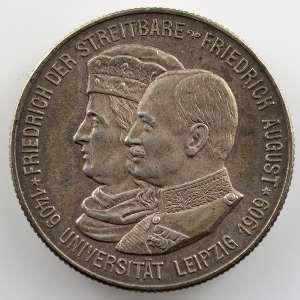 2 Mark   1909 E   500 ans de l'université de Leipzig    SUP/FDC