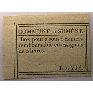 2 sous 6 deniers   1er juillet 1791    NEUF