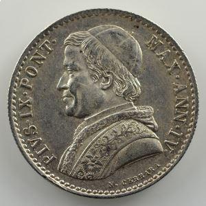 20 Baiocchi   1850 R  (Rome)  Année IV    TTB