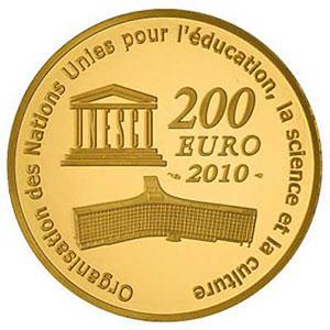 Münzen Euros Gold Frankreich France Patrimoine Mondial De Lunesco