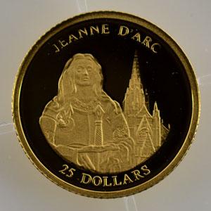 25 Dollars   2001   Jeanne d'Arc    BE