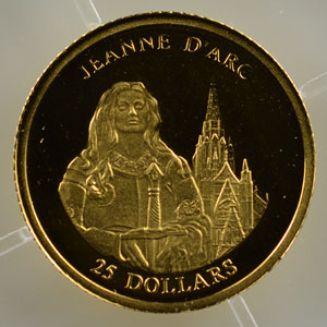 25 Dollars   2001   Jeanne d'Arc    BE
