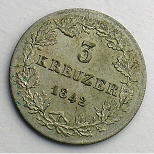 3 Kreuzer   1842    SUP