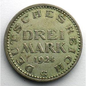 3 Mark   1924 G    TB+/TTB