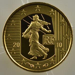 5 €   2010   50° anniversaire du nouveau franc 1960-2010    BE