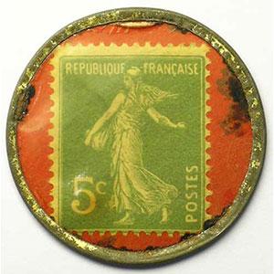 5 Cent vert/rouge    TB+/TTB+