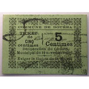 5 centimes   19-11-1916   carton    NEUF