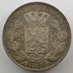 5 Francs   1867    TTB+/SUP