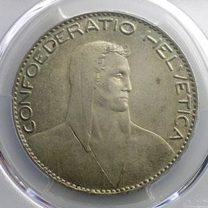 5 Francs   1922 B (berne)    PCGS-MS62    SUP/FDC