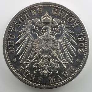 5 Mark   1902   Jubilé de règne/Regierungsjubiläum    TTB/TTB+