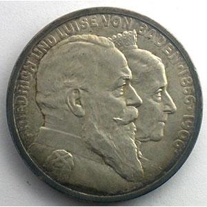 5 Mark   Friedrich und Luise von Baden   1906    SUP