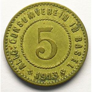 5 (Rappen) 1913   Lt, R,   19 mm   TTB