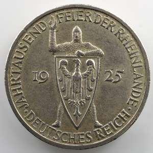 5 Reichsmark   1925 F   Rheinlande    TTB+