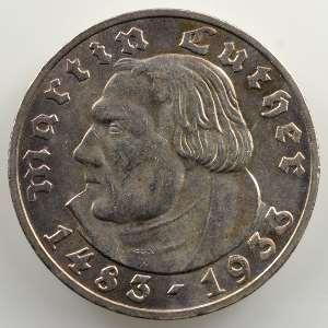 5 Reichsmark   1933 E   Martin Luther    TTB+/SUP