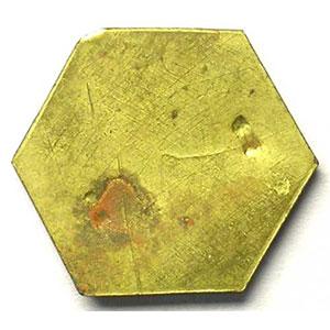 50 (c)   Lt, 6   22,5 mm   (Uniface)   2 empreintes rectangulaires au revers    SUP