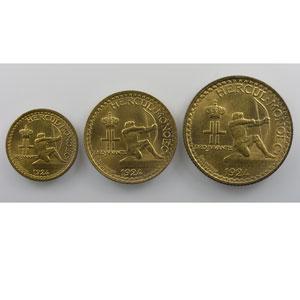 50 Centimes, 1 Franc, 2 Francs   1924 Poissy    SUP/FDC