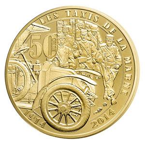 50 euro   Les taxis de la Marne   2014    BE