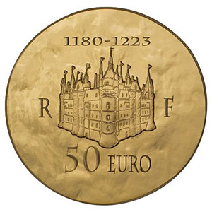 50 euro   Philippe II Auguste   2012    BE