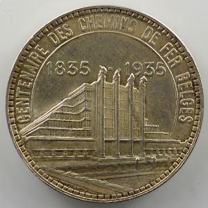 50 Francs   Exposition de Bruxelles   1935   légèrement fautée sur 50    SUP