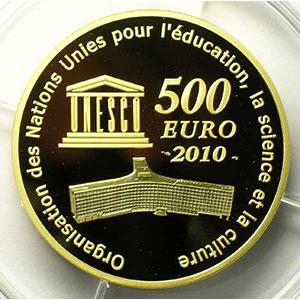 Frankreich France Patrimoine Mondial De Lunesco 500 Euro 2010 Le