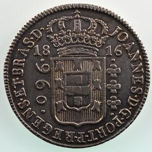 960 Reis   1816 R ou B  (Rio de Janeiro ou Bahia)    TTB+