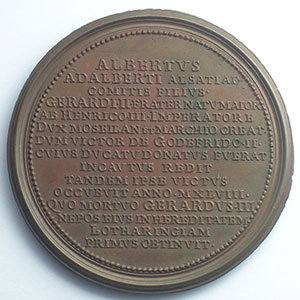 Albert   bronze   47 mm    TTB+