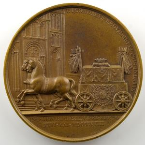 ANDRIEU/BARRE   Bronze   51mm   Pompe funèbre du Prince de Condé 26 mai 1818    SUP/FDC