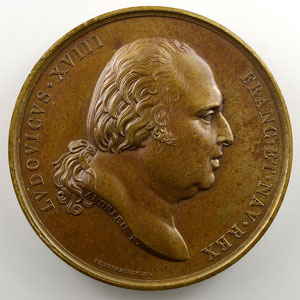 Andrieu   Bronze   50.5mm   1822   Voyage de la Corvette La Coquille    SUP/FDC