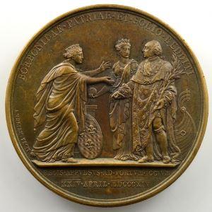 Andrieu   Bronze   50mm   1814   Débarquement de Louis XVIII à Calais le 24 avril 1814    SUP/FDC