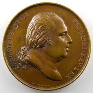 ANDRIEU   Bronze   50mm   1816   Mariage du Duc de Berry 17 juin 1816    SUP/FDC