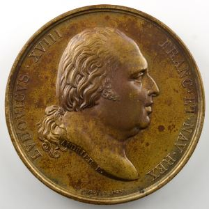 ANDRIEU   Bronze   50mm   Naissance du Duc de Bordeaux 29 septembre 1820    SUP