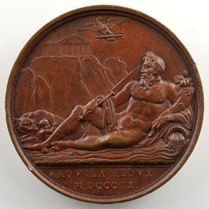 ANDRIEU/DENON   Rome réuni à la France   1809   bronze   41 mm    TTB+/SUP