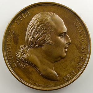 Andrieu/Desboeufs   Bronze   50.5mm   1817   Restauration du Musée    FDC