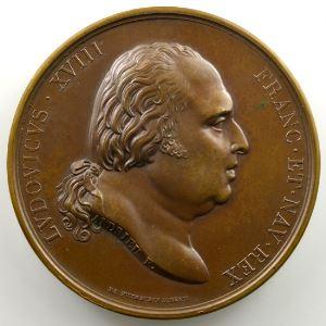 Andrieu/Desboeufs   Bronze   51mm   1817   Concordat 11 juin 1817    SUP/FDC